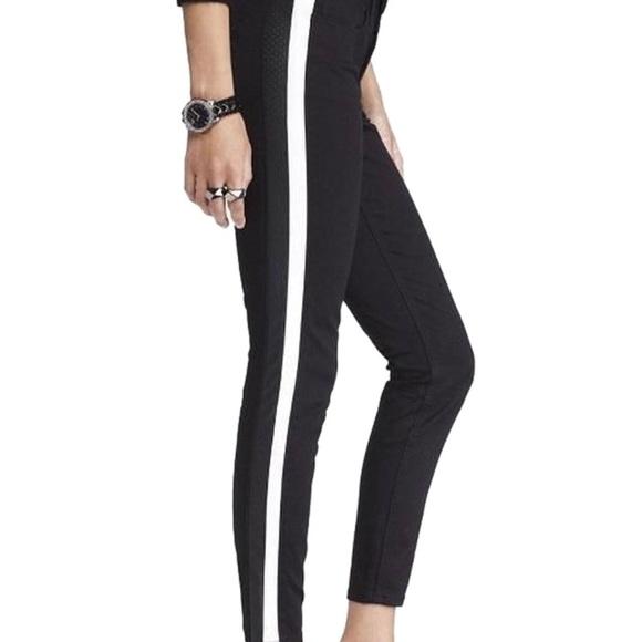 112bf7201904a Express Pants | Stella Leather Stripe Black Ankle Leggings | Poshmark